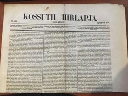 1848. 09.01. Kossuth Hírlapja, Komplett Szám, Szép állapotban - Unclassified