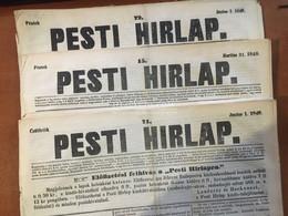 1848. 03-06. Pesti Hírlap 5db Komplett Szám - Unclassified