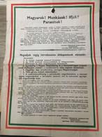 1956. 10.30. Egyetemi Forradalmi Diákbizottság : Magyarok....!  Eredeti Plakát.  58*41 Cm - Unclassified