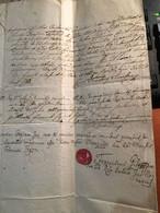 MARCALTŐ 1793.  Dekoratív Dokumentum ,  Gróf Várkonyi és Bősi Amadé Család - Unclassified