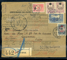 TÖRÖKORSZÁG 1916. Csomagszállító Svácból Továbbküldve Budapestre, Portózva - Covers & Documents
