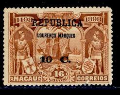 ! ! Lourenco Marques - 1913 Vasco Gama On Macau 10 C - Af. 107 - MH - Lourenco Marques