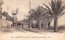 Toulon          83       Mourillon .Bd Du Littoral . Réparations Des Lignes Du Tramway      N° 153    (voir Scan) - Toulon