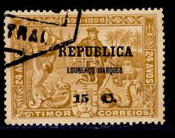 ! ! Lourenco Marques - 1913 Vasco Gama On Timor 15 C - Af. 116 - Used - Lourenco Marques