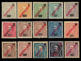 ! ! Lourenco Marques - 1911 D. Carlos (Complete Set) - Af. 78 To 92 - MH - Lourenco Marques