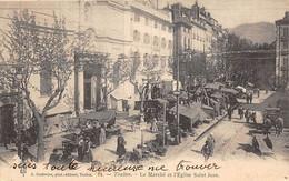 Toulon          83           Le  Marché Et L'église Saint Jean.    N° 14    (voir Scan) - Toulon