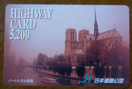 GIAPPONE Ticket Biglietto Pedaggio Edifici Città Highway Card 5200 ¥ - Usato - Other