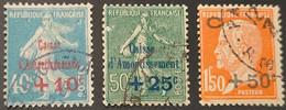 N° 246 à 248  Avec Oblitération Cachet à Date  TB - Used Stamps