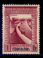 ! ! Portuguese India - 1938 Imperio 1 Rp - Af. 359 - MVLH - Portugiesisch-Indien
