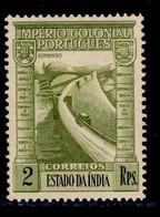 ! ! Portuguese India - 1938 Imperio 2 Rp - Af. 360 - MVLH - Portugiesisch-Indien