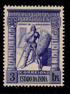 ! ! Portuguese India - 1938 Imperio 3 Rp - Af. 361 - MVLH - Portugiesisch-Indien