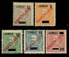 ! ! Congo - 1910 King Carlos W/OVP (Complete Set) - Af. 55 To 59 - MH - Portugiesisch-Kongo