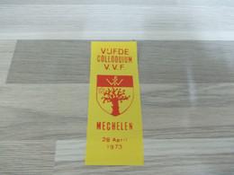 Mechelen Lintje Vijfde Colloquium V.V.F. 1973 - Altri