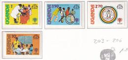 Michel - 203-206 - Postfrisch/**/MNH - Uganda (1962-...)