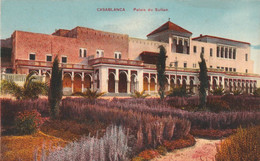 CASABLANCA (Maroc) à Petit Prix - Palais Du Sultan - Cpa écrite En 1934 - Très Bon état - 2 Scans - Casablanca