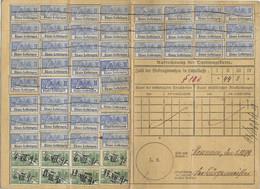 5) 1899 Carte Complète Retraites Ouvrières & Paysannes / Timbre N° 2 X 44 / N° 3 X 8 / Devant Les Ponts  Metz / Monneren - Alsace-Lorraine