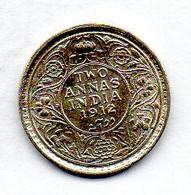 INDIA BRITISH, 2 Annas, Silver, Year 1912, KM #515 - India