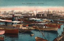 CASABLANCA (Maroc) à Petit Prix - Vue Du Port - Avec Barques Et Pêcheurs - Cpa écrite - Bon état - 2 Scans - Casablanca