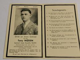 Doodebiller Luxembourg WW2, Tony Noesen, Comissair Letzebuerger Scouts Diekirch, Gefallen K. Z. Zu Hinzert 1944 - Unclassified