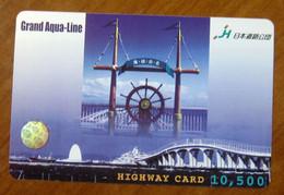 GIAPPONE Ticket Biglietto Pedaggio  Ponti Timone Grand Aqua Line Highway Card 10,500 ¥ - Usato - Other