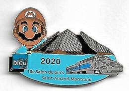 PIN'S SALON ST AMAND 2020/TGV/MONTGOLFIERE/MARIO/RADIO - Associations