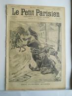 LE PETIT PARISIEN N°335 - 7 JUILLET 1895 - HUSSARDS CHEVAL  - INCENDIE EN RUSSIE - 1850 - 1899