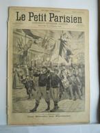 LE PETIT PARISIEN N°337 - 21 JUILLET 1895 - 14 JUILLET RETRAITE AUX FLAMBEAUX - EUGENIE BUFFET CHANTEUSE DES COURS - 1850 - 1899