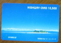 GIAPPONE Ticket Biglietto Pedaggio  Paesaggio Isola Mare Highway Card 10,500 ¥ - Usato - Other