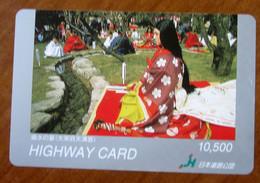 GIAPPONE Ticket Biglietto Pedaggio  Costumi Donna Highway Card 10,500 ¥ - Usato - Other