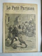 LE PETIT PARISIEN N°338 - 28 JUILLET 1895 - ASSASSINAT DE STAMBOULOFF - SOLDATS ALLEMANDS BALLON MONGOLFIERE - 1850 - 1899
