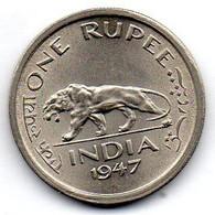 INDIA BRITISH, 1 Rupee, Copper-Nickel, Year 1947, KM #559 - India
