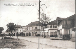 CPA-1920-COTE D IVOIRE-GRAND BASSAM-Maisons De Commerce Sur Le Bordde La Lagune-Edit Bloc Freres-TBE - Côte-d'Ivoire