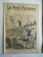 LE PETIT PARISIEN N°340 - 11 AOUT 1895 - EXPEDITION MADAGASCAR MILITAIRES - POUSSE-POUSSE CHARLEY LATAPY - 1850 - 1899