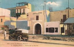 CASABLANCA (Maroc) à Petit Prix - Porte De La Marine (avec Tacot D'époque) - Cpa Rare - Bon état - Casablanca
