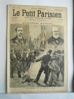 LE PETIT PARISIEN N°341 - 18 AOUT 1895 - EXPLOSION BOMBE - ATTENTAT D'ANICHE - ACCIDENT DE MONTAGNE - 1850 - 1899