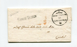 !!! DEPT CONQUIS, ISTRIE, CACHET MUNICIPALITA DI CAPO D'ISTRIA SUR LETTRE DE 1810 - 1792-1815: Veroverde Departementen
