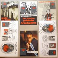 1452f: Ausstellungssammlung Österreichische Sozialdemokratie, 54 Moderne Propagandabelege, 10 Scans - Labor Unions
