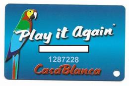 Casablanca Casino, Mesquite, NV, U.S.A., Older Used Slot Or Player's Card, # Casablanca-1 - Cartes De Casino