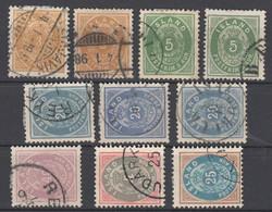Island , 10 Gestempelte Marken 1882-1900 - Used Stamps