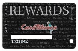 Casablanca Casino, Mesquite, NV,  U.S.A., Older Used Slot Or Player's Card, # Casablanca-3 - Cartes De Casino