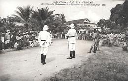 CPA-1920-COTE D IVOIRE-GRAND BASSAM-ABIDJAN-Récéption Du Gouverneur A La Résidence De L Administrat-Edit Bloc Freres-TBE - Côte-d'Ivoire