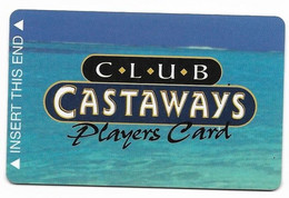 Castaways Casino, Las Vegas, Older BLANK Used Slot Or Player's Card, # Castaways-1blank - Cartes De Casino