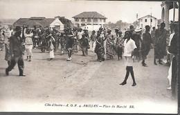 CPA-1920-COTE D IVOIRE-GRAND BASSAM-ABIDJAN-Place Du Marché-Edit Bloc Freres-TBE - Côte-d'Ivoire