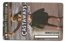 Castaways Casino, Las Vegas, Older Used Slot Or Player's Card,  # Castaways-2 - Cartes De Casino