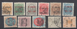 Island , 11 Gestempelte Marken 1902 , Michel über 150.- - Used Stamps