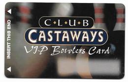 Castaways Casino, Las Vegas, Older BLANK Used Slot Or Player's Card, # Castaways-3blank - Cartes De Casino
