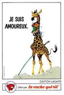 Gaston Lagaffe Girafe Adhésif La Vache Qui Rit 1986 - Unclassified