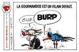 Gaston Lagaffe Chat Mouette Adhésif La Vache Qui Rit 1986 - Unclassified