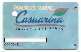 Casuarina Casino, Las Vegas, Older Used Slot Or Player's Card, # Casuarina-1 - Cartes De Casino
