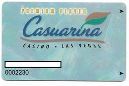 Casuarina Casino, Las Vegas, Older Used Slot Or Player's Card, # Casuarina-1a - Cartes De Casino
